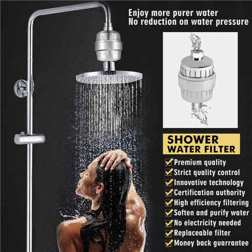 LANNEY 12-Stage Shower Filter Water Purifier Hard Water Softener with Replacement Cartridges, Fit Most Shower Head and Handheld Shower, Remove Chlorine Fluoride Heavy Metals for Hair & Skin Health